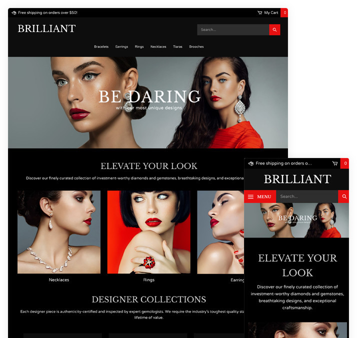 Ecommerce Software Responsive Theme Design